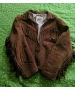 1950s Roy Rogers JACKET COAT Boys Girls Western Cowboy Fringe Rust Leather - $116.88