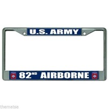 ARMY 82ND AIRBORNE DIVISION CHROME LICENSE PLATE FRAME - $27.07