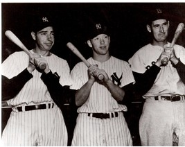 Joe Dimaggio Mickey Mantle Ted Williams 24X30 BW Baseball Memorabilia Photo - $41.95