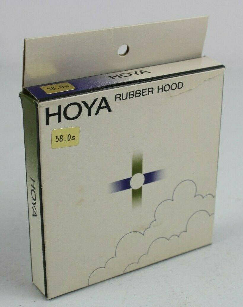 Vintage Hoya Rubber Lens Hood 58mm 58.0S w/ box - $15.78
