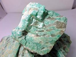 Amazonite Rough by The Pound with Smoky Quartz Bands, Brazil, Lapidary - $25.43