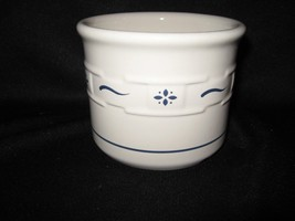 LONGABERGER POTTERY CLASSIC BLUE ONE PINT OPEN CROCK.....MADE IN USA! - $11.60