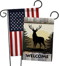 Welcome Deer - Impressions Decorative USA - Applique Garden Flags Pack -... - $30.97