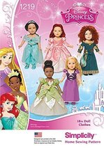 Simplicity Creative Patterns 1219 18-Inch Disney Princess Doll Clothes, OS (ONE  - $13.23
