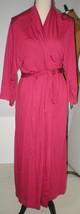 NWT New Designer Natori Wrap Robe Womens XL Soft Red Modal Long Pockets ... - $117.00