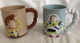 Toy Story Buzz Lightyear & Woody Mug set Ocean Spray Mail-away exclusive... - $16.83