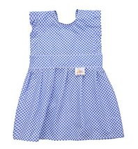2 Pcs Lovely Girls Painting Smocks Baby Feeding Clothes Baby Bib Blue, 2-3 Years