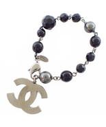 CHANEL Gunmetal Bracelet Black Pearl A37291 Black TK1424 - $702.90