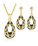 Crystal Drop African Beads Jewelry Sets -- 3 Colors Available - $15.95