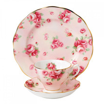 100 Years of Royal Albert 1980 Rose Blush 3-Piece NEW - $84.14