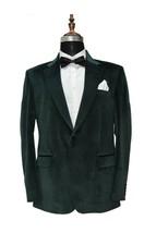 Men Green Smoking Blazers Designer Dinner Wedding Party Wear Blazers - $177.61