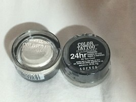 2 Lot Maybelline Color Tattoo By Eyestudio Cream Eyeshadow 24hr-05 Too Cool - $6.89