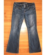 American Eagle Outfitters Artist Jeans Flare Blue Stretch Denim Size 2 S... - $21.73