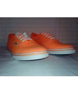 Orange Canvas Off the Wall VANS Skate Sneeker/Shoe M8.5 W10 w/ KIWI ORG ... - $23.70