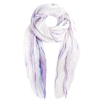 Open Weave Wrap Scarf Ice Collection 18 Pink Purple Aqua White Shimmer -... - $23.09 CAD