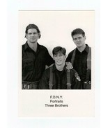 POSTCARD-FIRST DAY OF ISSUE F.D.N.Y PORTRAITS -THREE BROTHERS 9/11 - $1.96