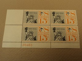 USPS Scott C58 15c Liberty For All 1959 Statue of Liberty Plate Block Mi... - $7.07