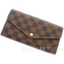 LOUIS VUITTON Portefeuille Sarah Damier Ebene Wallet N63209 Authentic 55... - $518.52