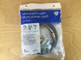 GE 4-wire Dryer Power Cord WX9X18 4ft Length New - $10.39