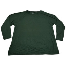 Calvin Klein Performance Plus Size Cross-Over Hem Top Sweatshirt Green 3... - $43.55