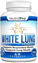 White Lung by NutraPro - Lung Cleanse & Detox. Support Lung Health After Years o
