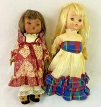 """Effanbee Doll Lot of 2 Punkin 1966 Blond Hair 11"""" - $29.69"""