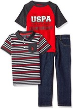 U.S. Polo Assn. Boys' T, Polo Shirt and Pant Set (3T|Championships Red) - $34.63