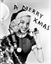 Christmas photo with the Adorable Diana Dors , 1940's  - $7.18
