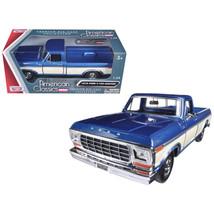 1979 Ford F-150 Pickup Truck 2 Tone Blue/Cream 1/24 Diecast Model Car by... - $34.69