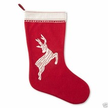MarthaHoliday Embroidered Reindeer Stocking Martha Stewart New Msrp $50.00 - $12.99
