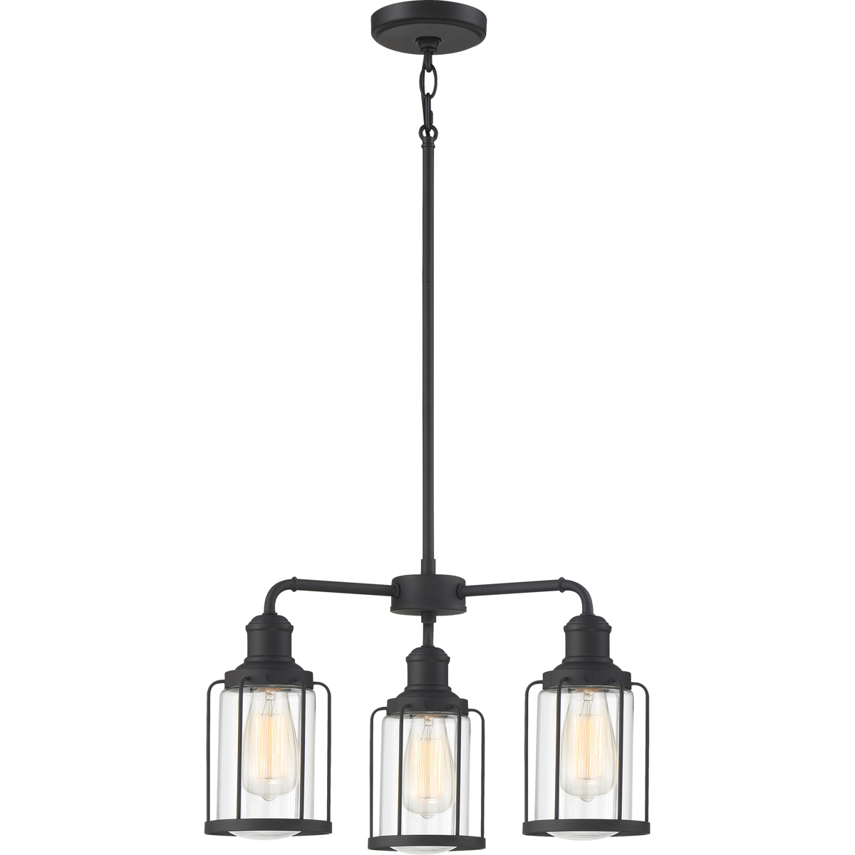 Primary image for Ludlow 3-Light Chandelier in Earth Black