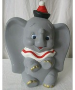 1980s Hand Painted Ceramic Bisque Disney Dumbo Elephant from molds - $19.79