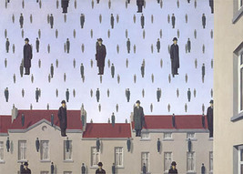 Rene Magritte-Golconde (md) with border-Poster - $23.38