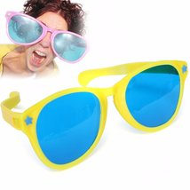 Large Coloured Comedy Funny Joke Glasses Sunglasses For Clown Gag Fancy ... - $12.99