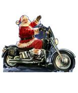 Santa Motorcycle Christmas Cardboard Cutout Standup Standee Holiday Display - $39.55