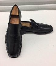$425 Salvatore Ferragamo Loafers Shoes Black Calf Leather Mens Sz 8.5 D - $133.74 CAD