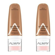 2 Almay Best Blend Forever Makeup Foundation 1 Oz SPF 40 Sealed Cappuccino 200 - $6.90