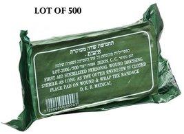 LOT OF 500 Israeli Army Bandage Field Dressing Emergency IDF IFAK EMT Trauma - $1,209.77
