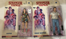 STRANGER THINGS Set McFarlane Toys Action Figures Chief Hopper & Eleven NIB - $34.75