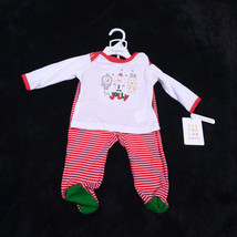 Absorba 2 Piece Christmas Infant Baby Set Size 3-6 Months New - $22.79