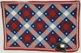 "Set of 4 Tapestry Placemats (13""x19"") PATRIOTIC USA, STARS & COLORED DIA... - $19.79"