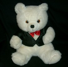 """9 """"vintage 1987 applause white first class teddy bear toy animal - $23.01"""