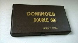 Dominoes Double Six Color Dot Tiles Dominos Travel Game Kids - Missing 2... - $10.94