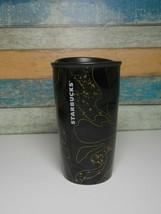 Starbucks Ceramic Tumbler Black & Gold Marble Holiday 2018 12 oz Limited... - $19.99