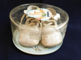 VTG Baby Deer Shoes w laces White Leather with original box by Trimfoot USA - $34.65