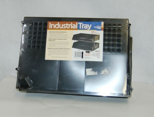 Deflecto 582704 Stacking Side Load Industrial Tray Black