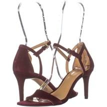 MICHAEL Michael Kors Simone Mid Sandal Ankle Strap Sandals 976, Ox Blood... - $39.35