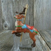 Vintage Carousel Reindeer American Greetings 1991 Christmas Ornament - $31.67