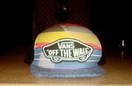 VANS Off The Wall Multicolor Logo Trucker Snap Back Hat - $10.00