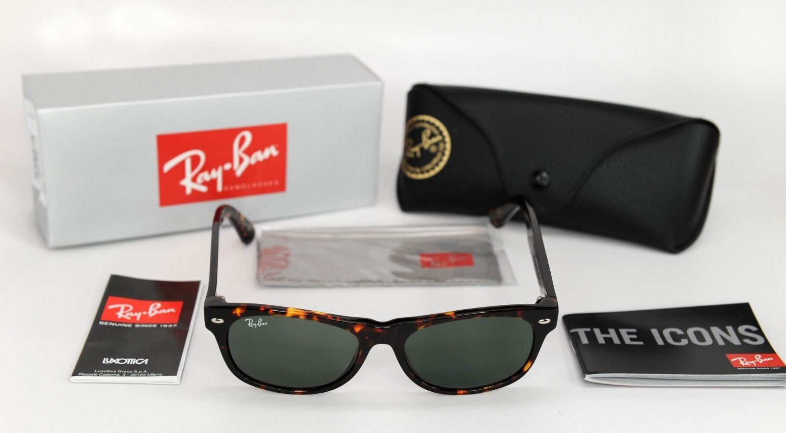d11fb94542 Ray-Ban New Wayfarer RB2132 902 52 Tortoise and 50 similar items. 57